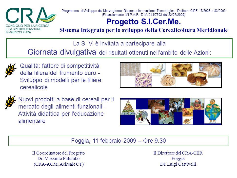 Programma di Sviluppo del Mezzogiorno: Ricerca e Innovazione Tecnologica - Delibere CIPE 17/2003 e 83/2003 (Finanziamento Mi.P.A.F.
