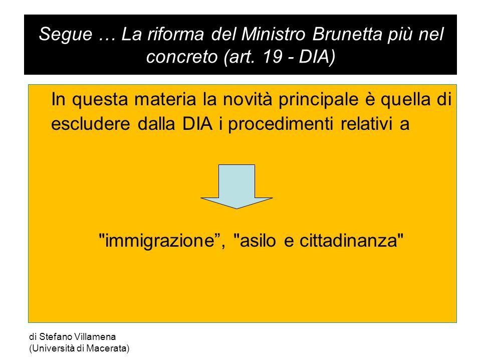 Segue … La riforma del Ministro Brunetta più nel concreto (art.