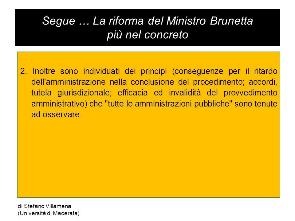 Segue … La riforma del Ministro Brunetta più nel concreto 2.