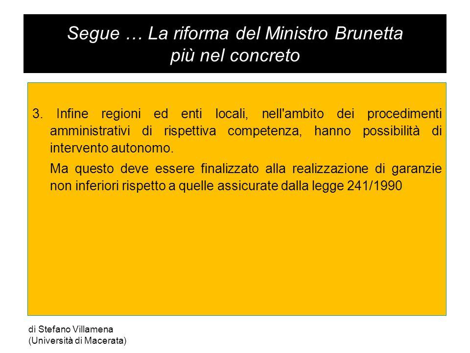 Segue … La riforma del Ministro Brunetta più nel concreto 3.