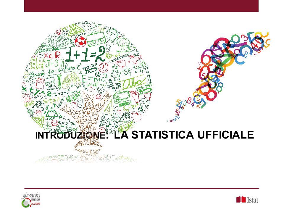 INTRODUZIONE : LA STATISTICA UFFICIALE