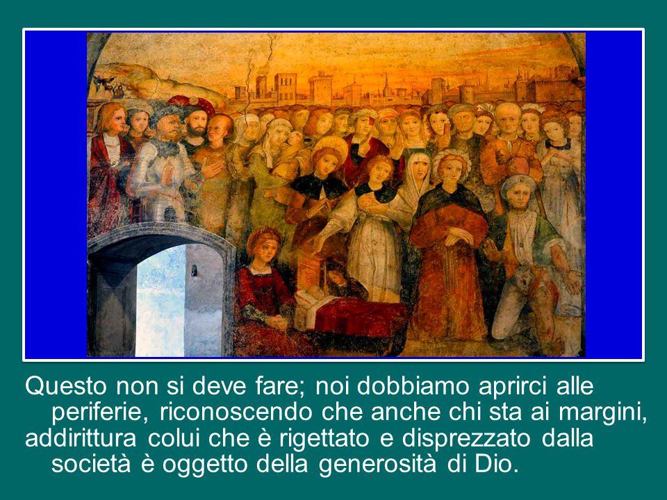 La bontà di Dio non ha confini e non discrimina nessuno: per questo il banchetto dei doni del Signore è universale, per tutti.