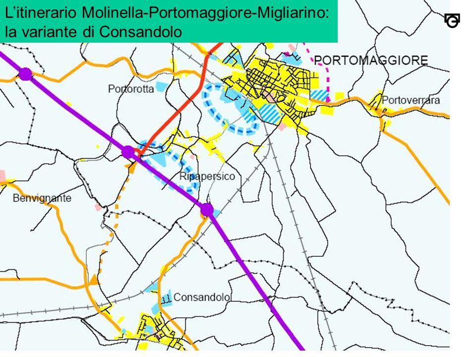 L'itinerario Molinella-Portomaggiore-Migliarino: la variante di Consandolo