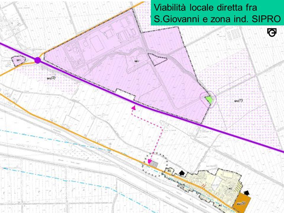 Viabilità locale diretta fra S.Giovanni e zona ind. SIPRO