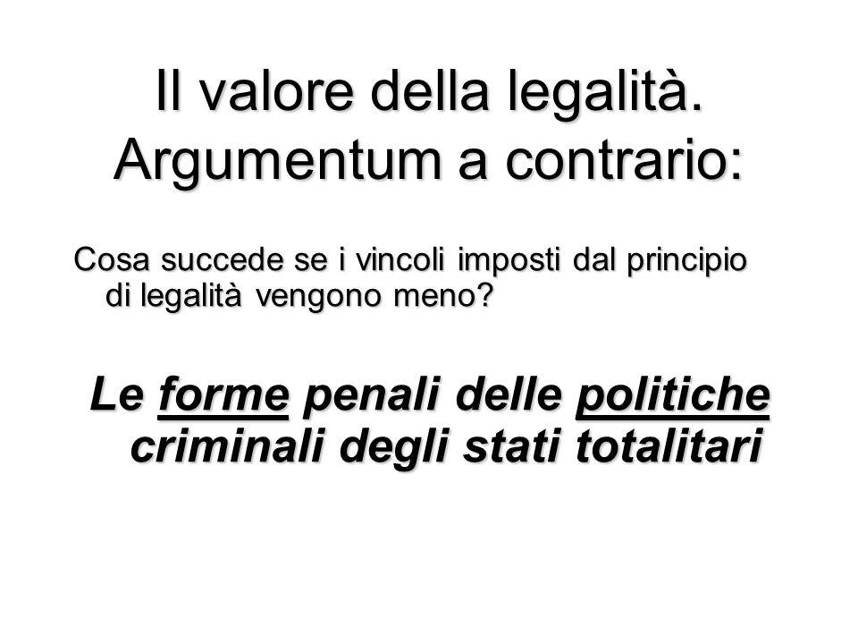 Il valore della legalità.