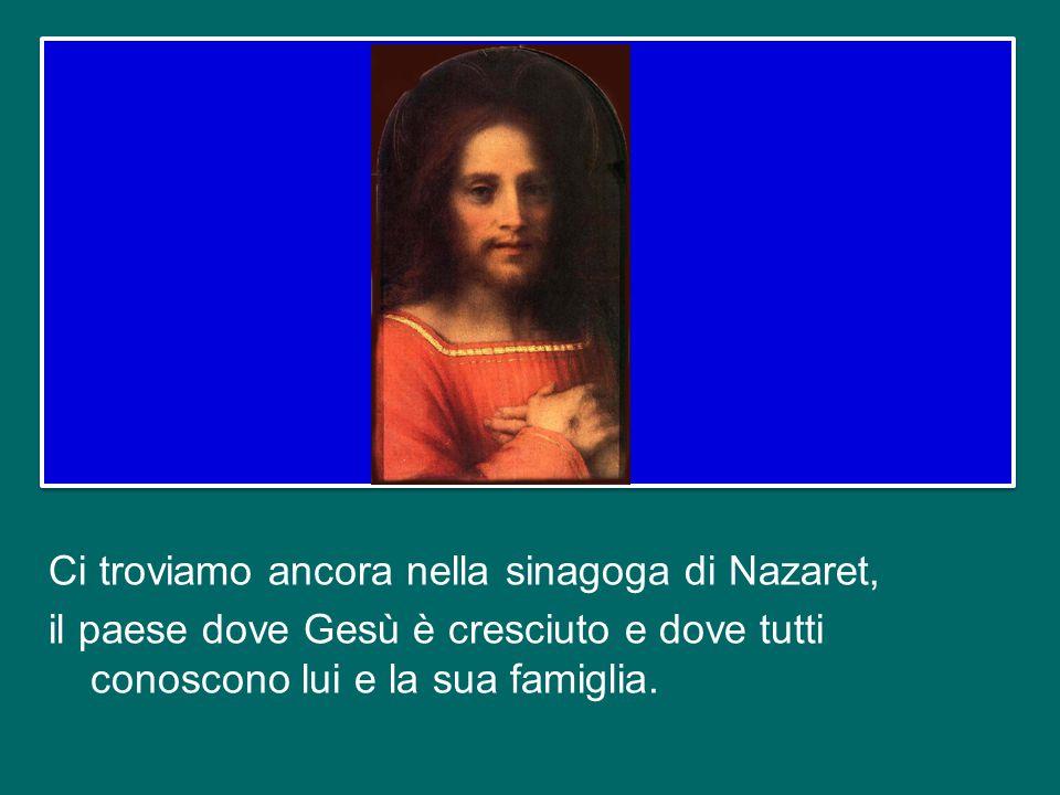 Il Vangelo di oggi – tratto dal capitolo quarto di san Luca – è la prosecuzione di quello di domenica scorsa.