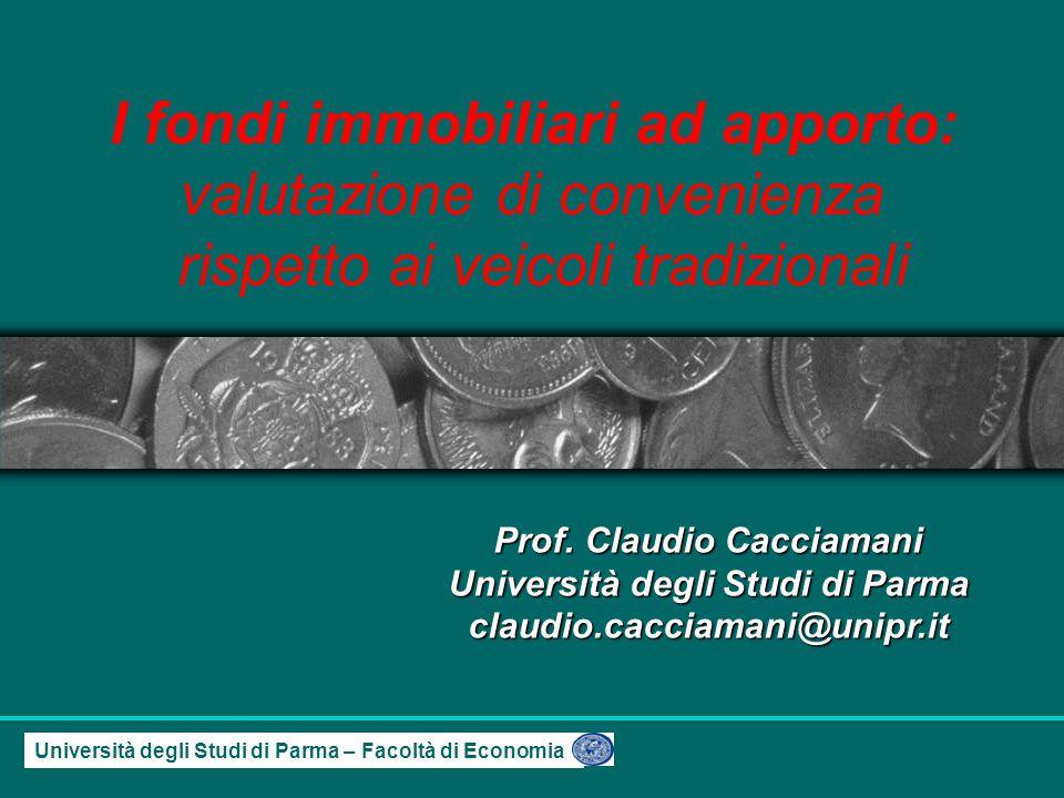 Università degli Studi di Parma – Facoltà di Economia Prof.