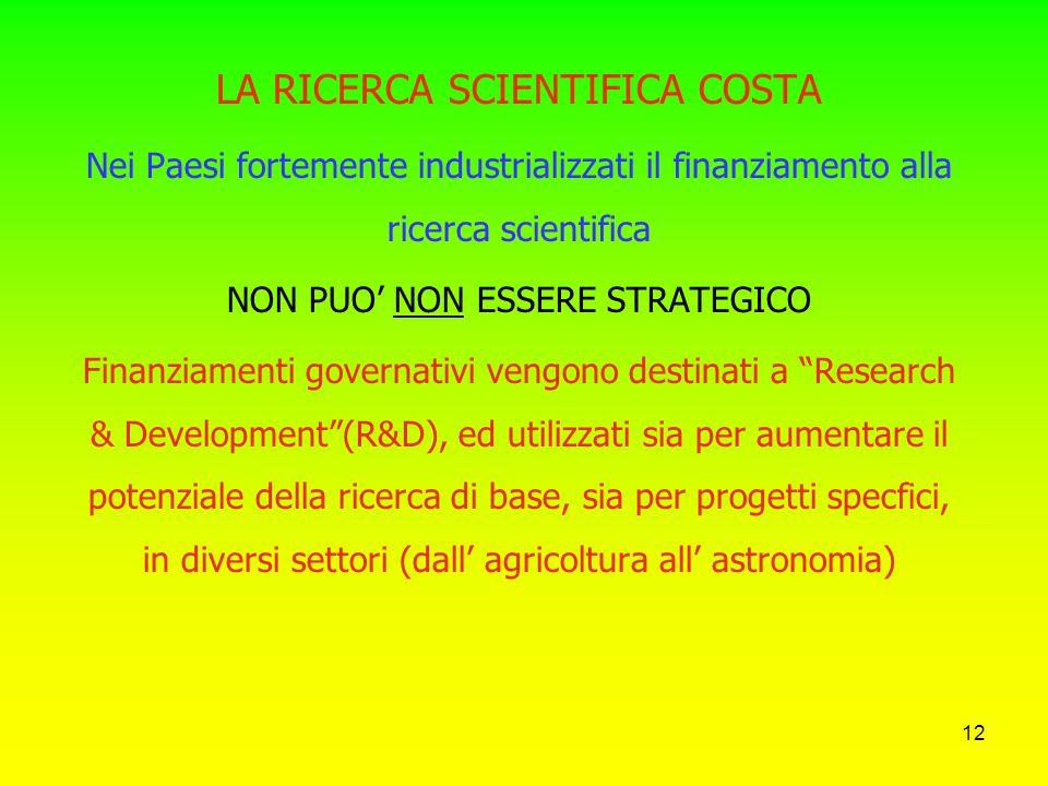 11 Nuova struttura organizzativa e nuove istituzioni Identificazione degli obiettivi del progetto Articolazione in sotto-progetti Pianificazione econo