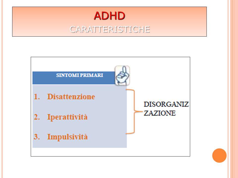 ADHD  non riguarda solo i bambini ma anche bambine, adolescenti e adulti  la concentrazione può essere elevata se motivata (importanza del contesto)  riguarda persone con QI medio – alto (superdotati)  non tutti hanno problemi comportamentali già nell'infanzia