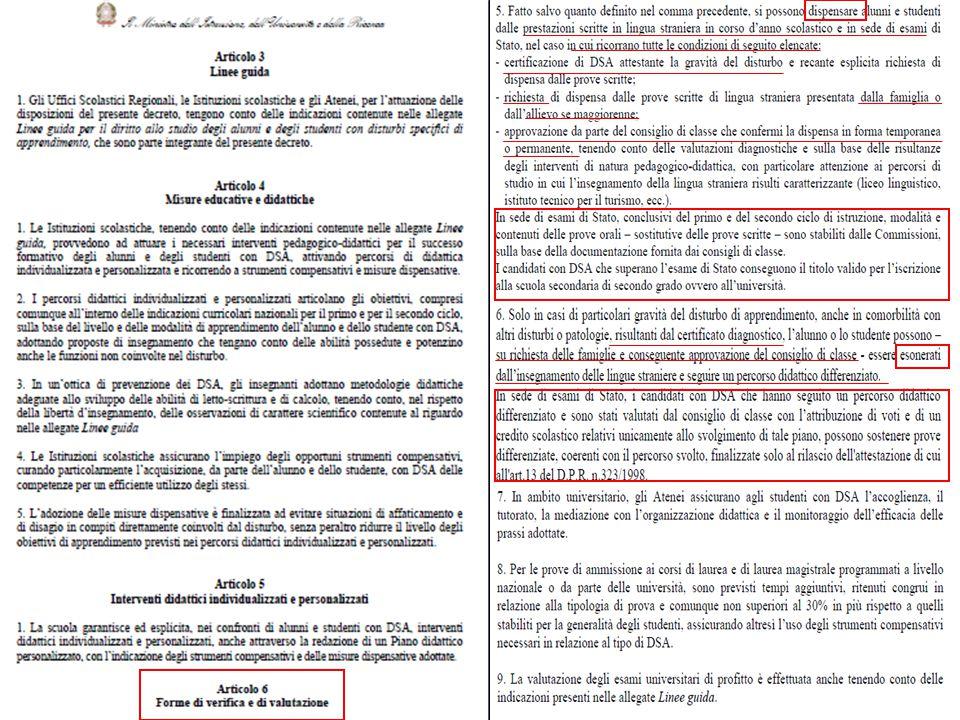 Legge 170 - Decreto n.