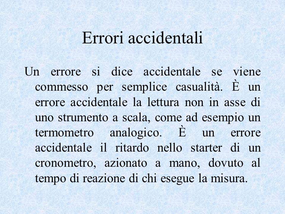 Teoria degli errori Le misure ottenute con strumenti di misura, come detto, sono inevitabilmente affette da errori.