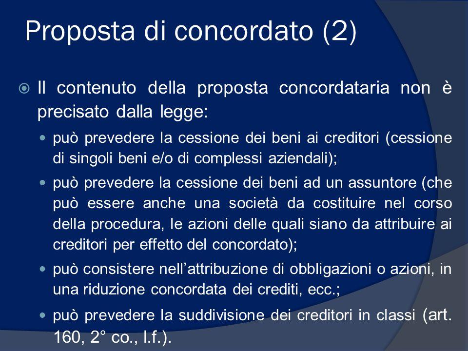 Concorso dei crediti  Nelle procedure di legge (fallimento, concordato preventivo, liq.