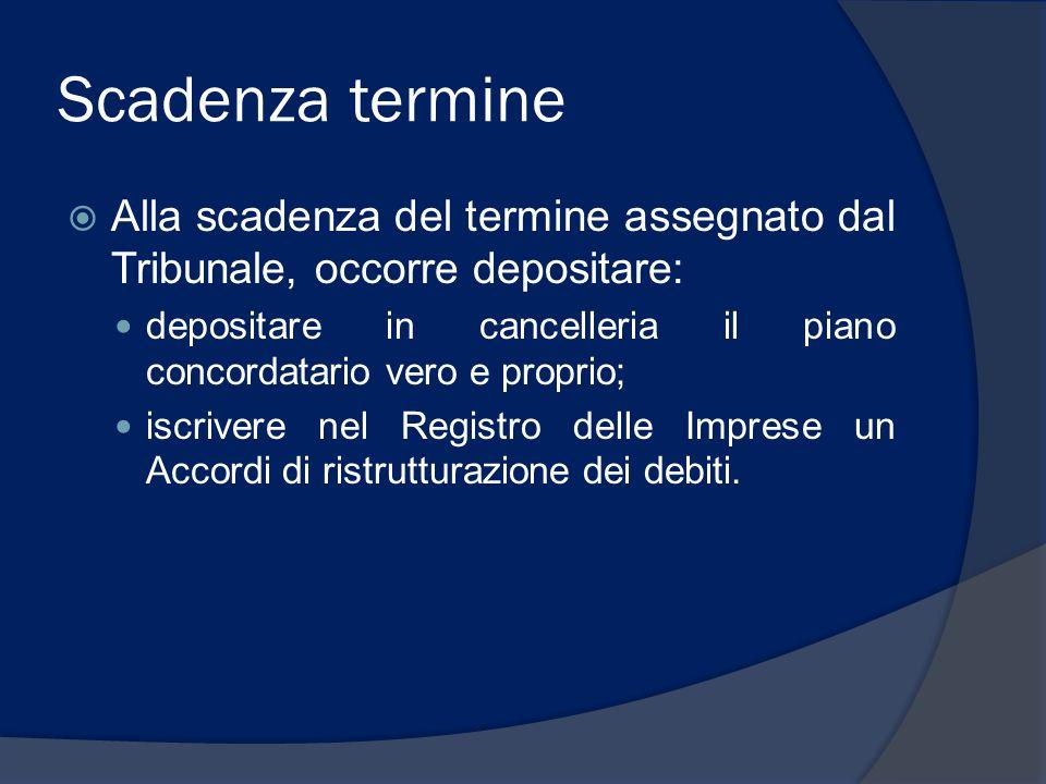 Controllo Tribunale su proposta (1)  Depositato il piano concordatario, il Tribunale può ammettere o non ammettere il CP verificato che il piano preveda la ristrutturazione dei debiti ed il soddisfacimento dei creditori.