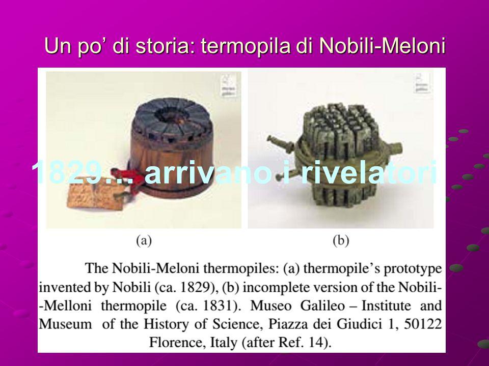 Un po' di storia: termopila di Nobili-Meloni 1829… arrivano i rivelatori