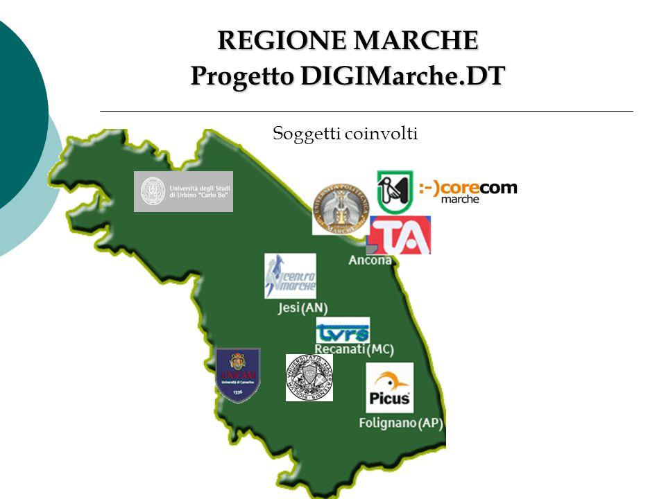 REGIONE MARCHE Progetto DIGIMarche.DT Soggetti coinvolti
