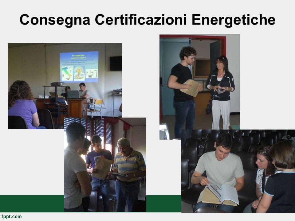 Consegna Certificazioni Energetiche
