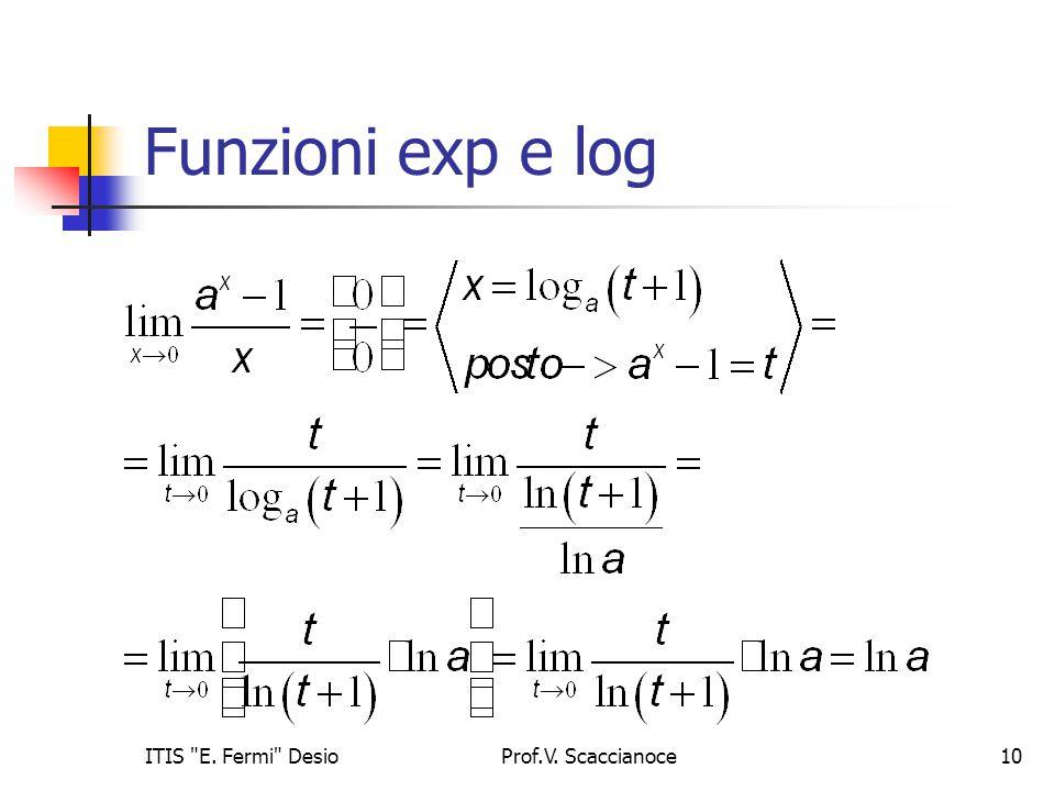 Funzioni exp e log Prof.V. Scaccianoce10ITIS E. Fermi Desio