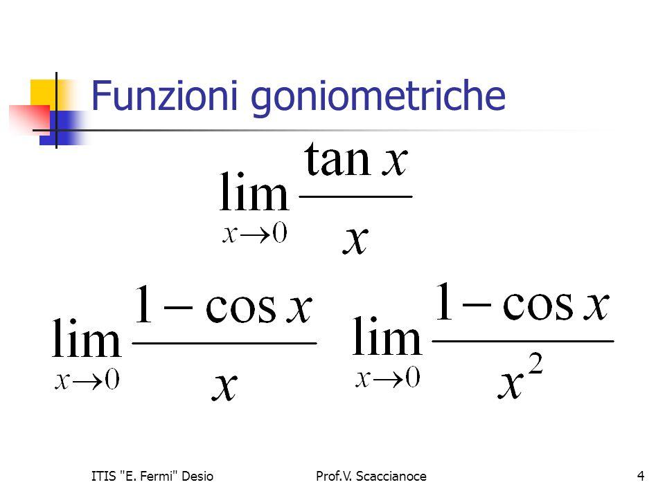 Funzioni goniometriche Prof.V. Scaccianoce5ITIS E. Fermi Desio