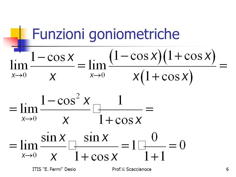 Funzioni goniometriche Prof.V. Scaccianoce6ITIS E. Fermi Desio