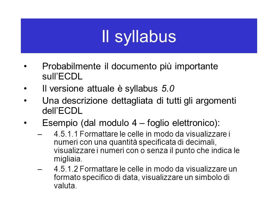 Punti fondamentali Leggere il syllabus (versione 5.0) Leggere il tutorial di ATLAS Scegliere un libro, venire alle lezioni, ecc.