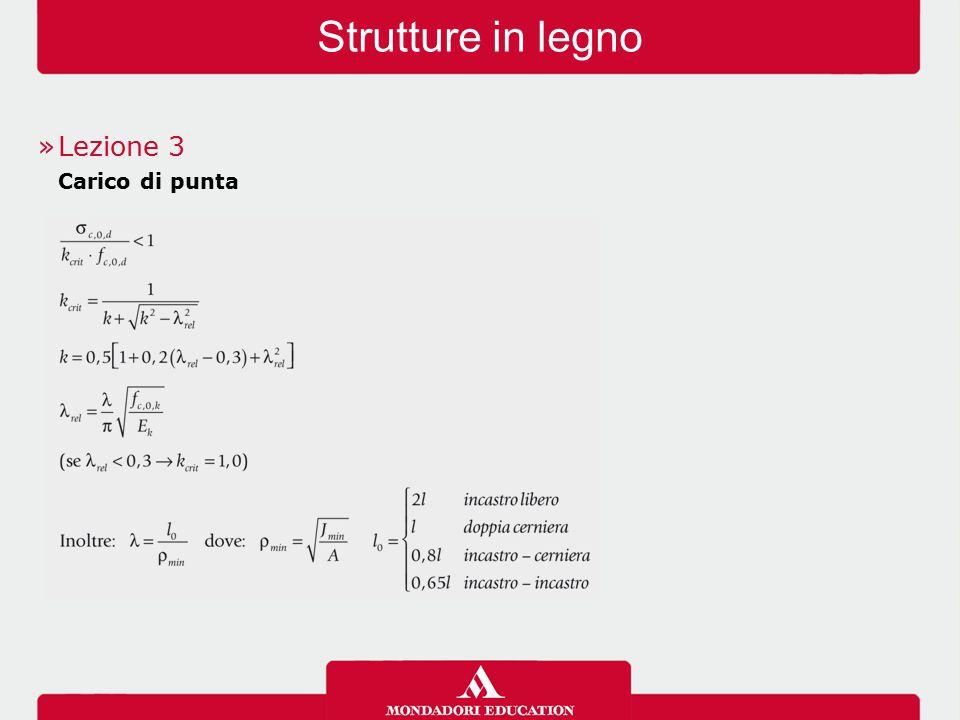 Strutture in legno »Lezione 3 Carico di punta