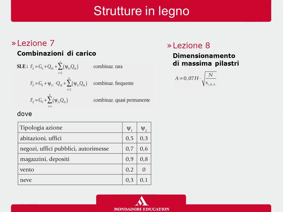 Strutture in legno »Lezione 7 Combinazioni di carico dove »Lezione 8 Dimensionamento di massima pilastri