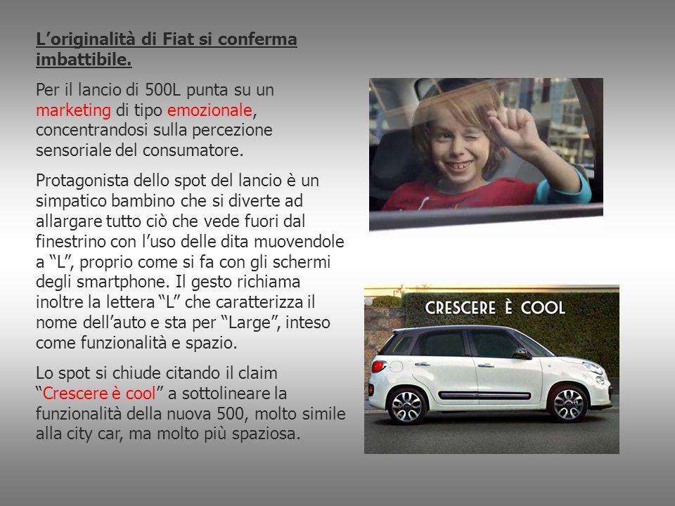 L'originalità di Fiat si conferma imbattibile. Per il lancio di 500L punta su un marketing di tipo emozionale, concentrandosi sulla percezione sensori