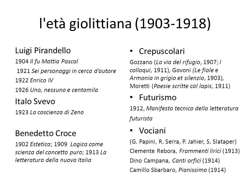 La narrativa: anni '40 e '50 1941, Conversazione in Sicilia di Elio Vittorini (n.