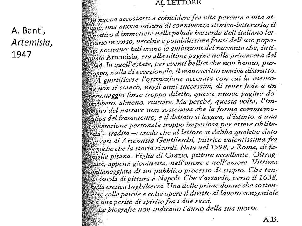 A. Banti, Artemisia, 1947