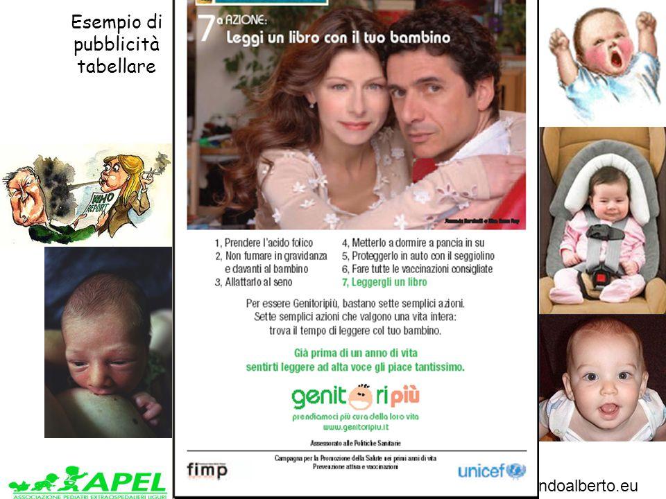 www.apel-pediatri.it www.ferrandoalberto.eu Esempio di pubblicità tabellare