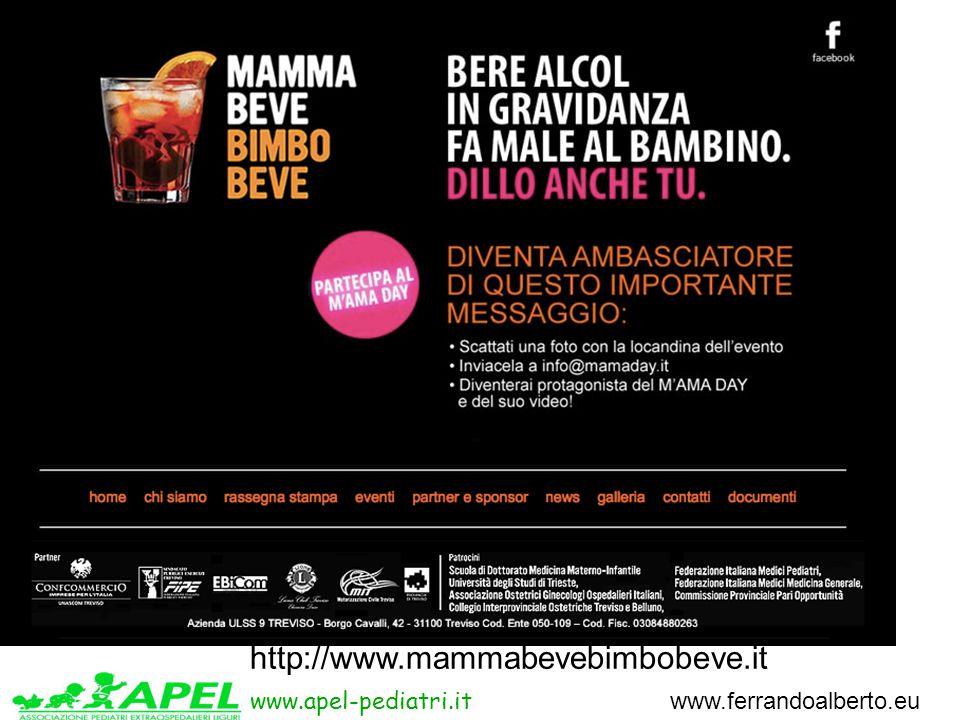 www.apel-pediatri.it www.ferrandoalberto.eu http://www.mammabevebimbobeve.it
