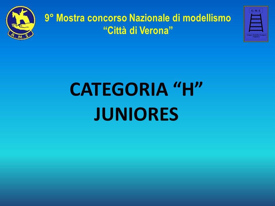 """CATEGORIA """"H"""" JUNIORES 9° Mostra concorso Nazionale di modellismo """"Città di Verona"""""""