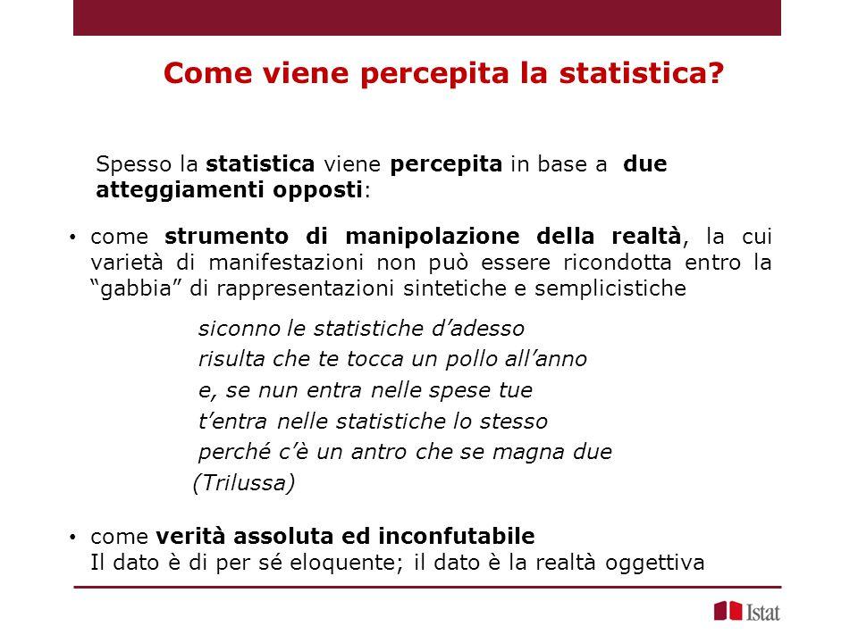 Come viene percepita la statistica.