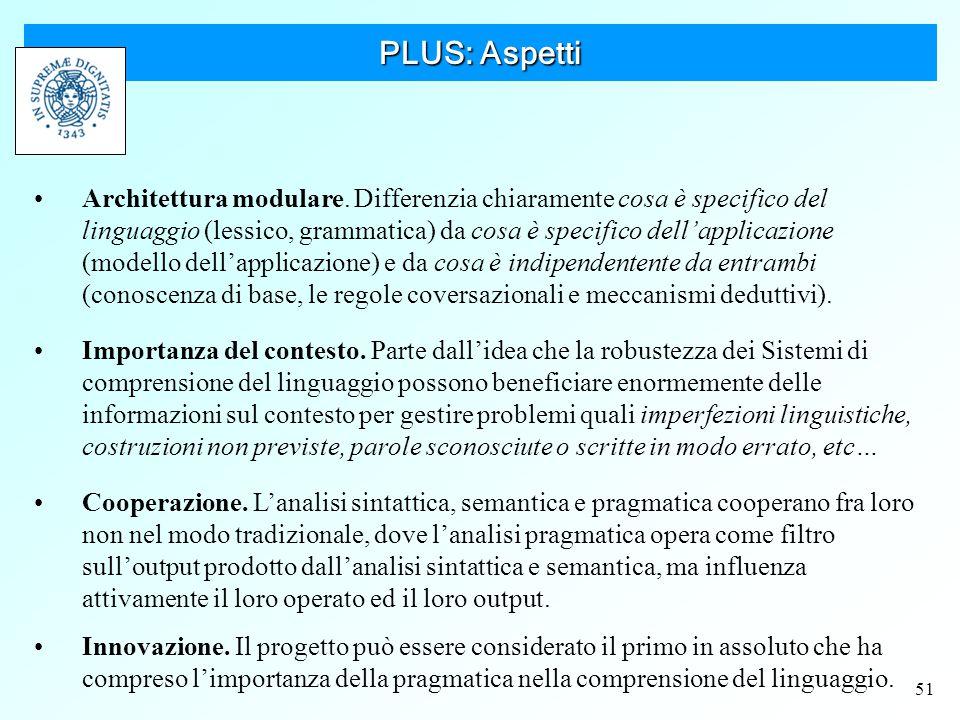 51 PLUS: Aspetti Architettura modulare.