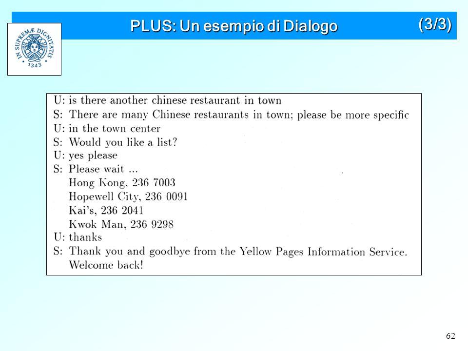 62 PLUS: Un esempio di Dialogo (3/3)
