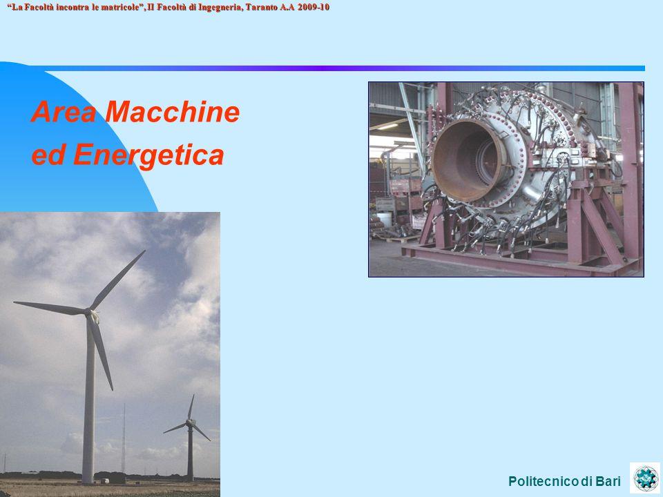 Politecnico di Bari La Facoltà incontra le matricole , II Facoltà di Ingegneria, Taranto A.A 2009-10 Area Impianti