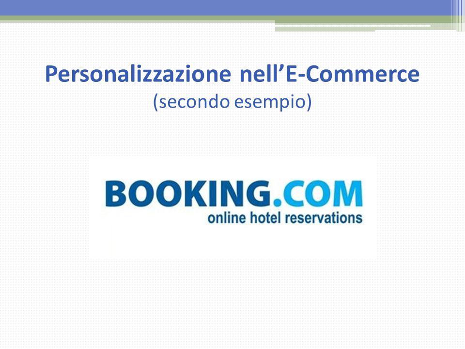Personalizzazione nell'E-Commerce (secondo esempio)