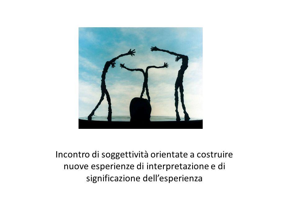 Incontro di soggettività orientate a costruire nuove esperienze di interpretazione e di significazione dell'esperienza