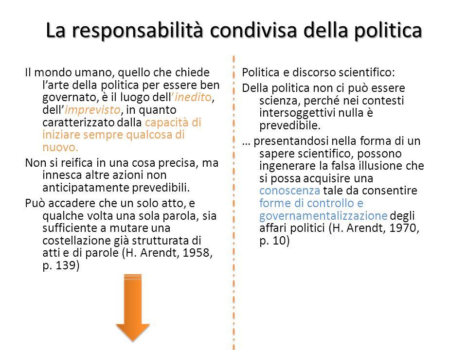 Politica e discorso scientifico: Della politica non ci può essere scienza, perché nei contesti intersoggettivi nulla è prevedibile.