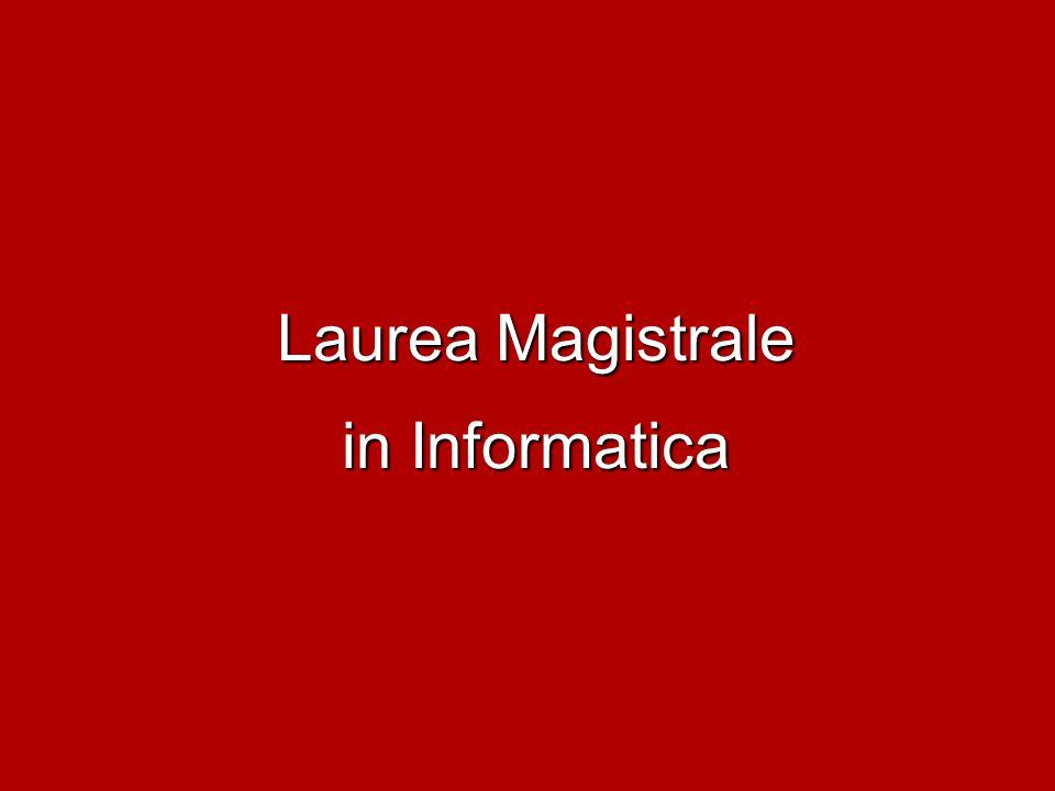 Laurea Magistrale in Informatica