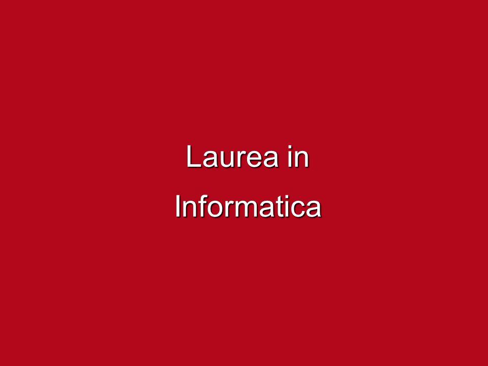 Laurea (triennale) in Informatica curiosità ed interesse per la tecnologia e l'innovazione ma soprattutto attitudine al pensiero astratto e logico attitudine?