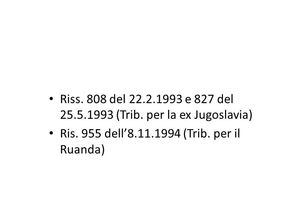 Riss. 808 del 22.2.1993 e 827 del 25.5.1993 (Trib.