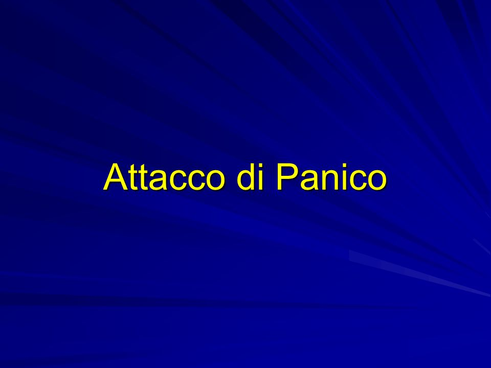 Attacco di Panico