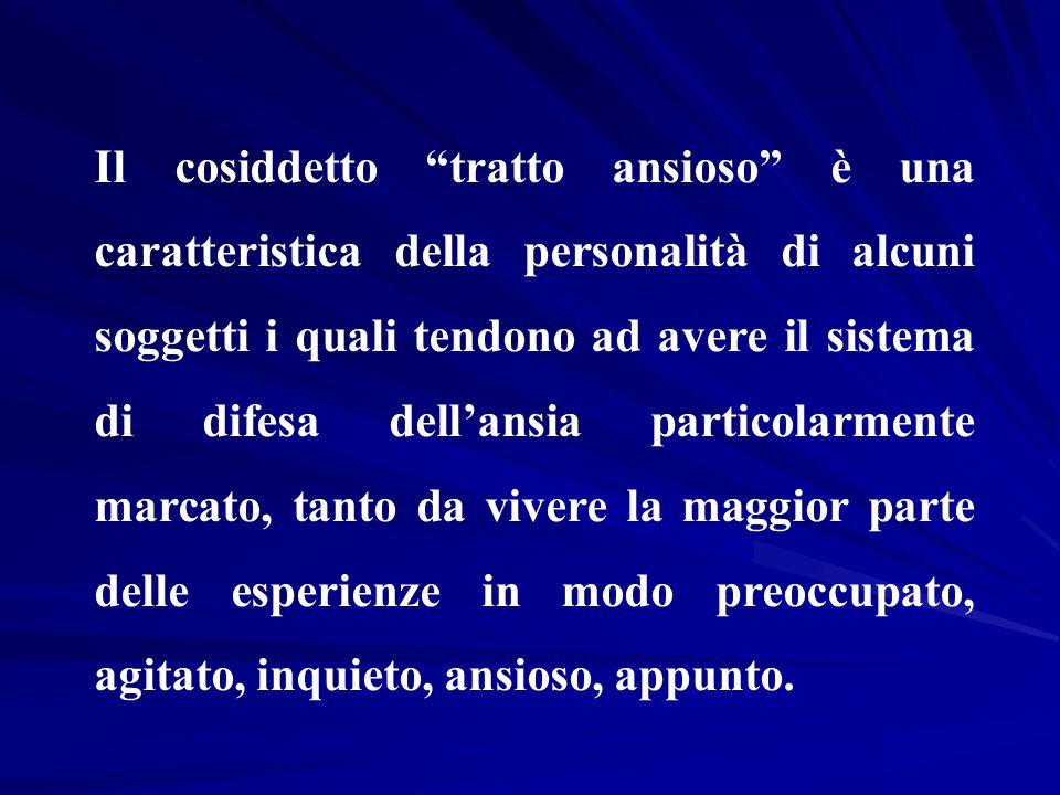 """Il cosiddetto """"tratto ansioso"""" è una caratteristica della personalità di alcuni soggetti i quali tendono ad avere il sistema di difesa dell'ansia part"""