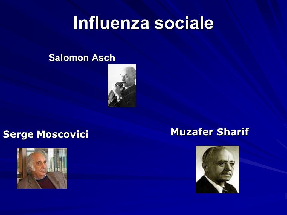 Influenza sociale Salomon Asch Salomon Asch Serge Moscovici Muzafer Sharif