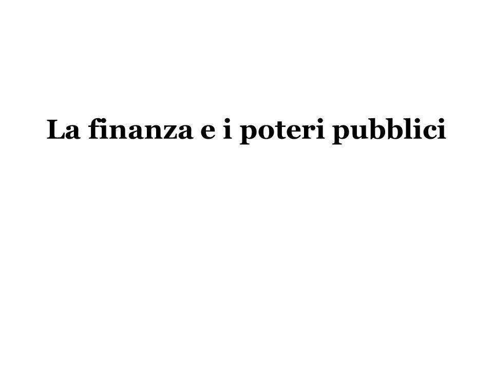 La finanza e i poteri pubblici
