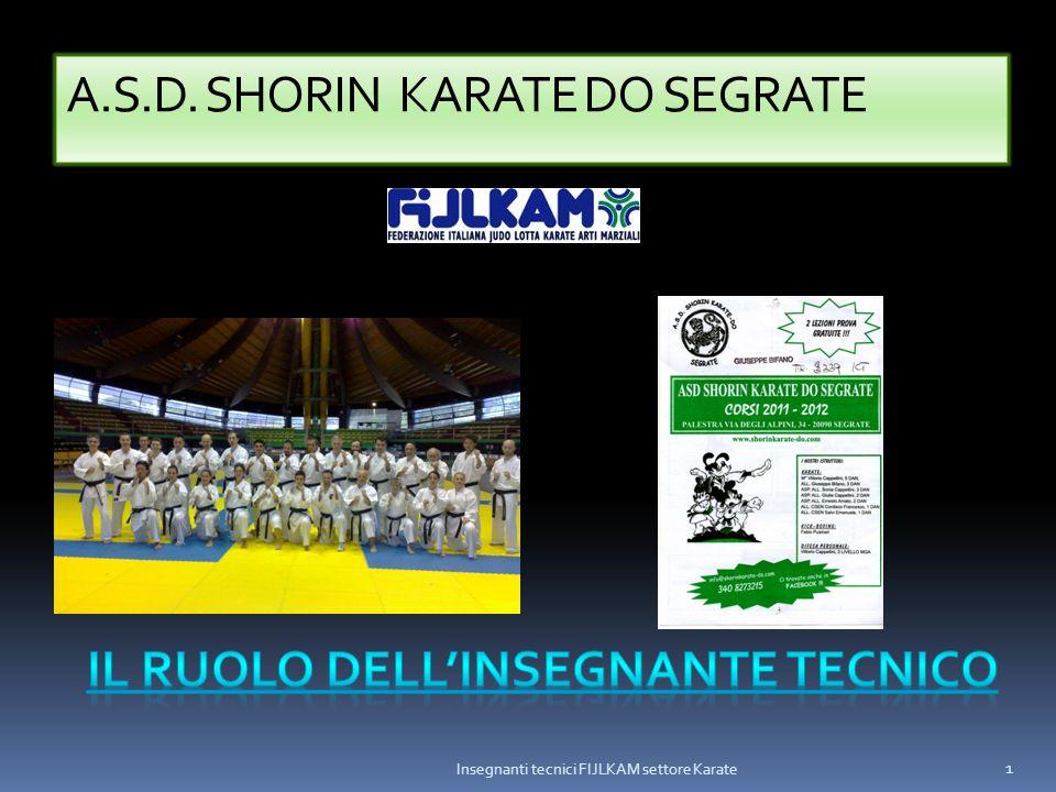 A.S.D. SHORIN KARATE DO SEGRATE Insegnanti tecnici FIJLKAM settore Karate 1