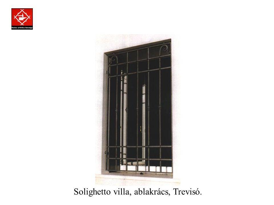 Prodotti assemblati a regola d'arte con la tecnica della chiodatura. Parma villa, ablakrács.