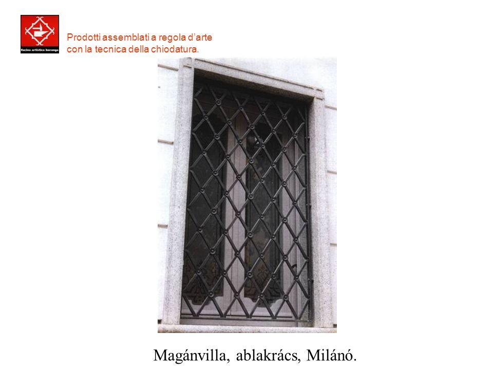 Prodotti assemblati a regola d'arte con la tecnica della chiodatura. Magánvilla, ablakrács, Padova.