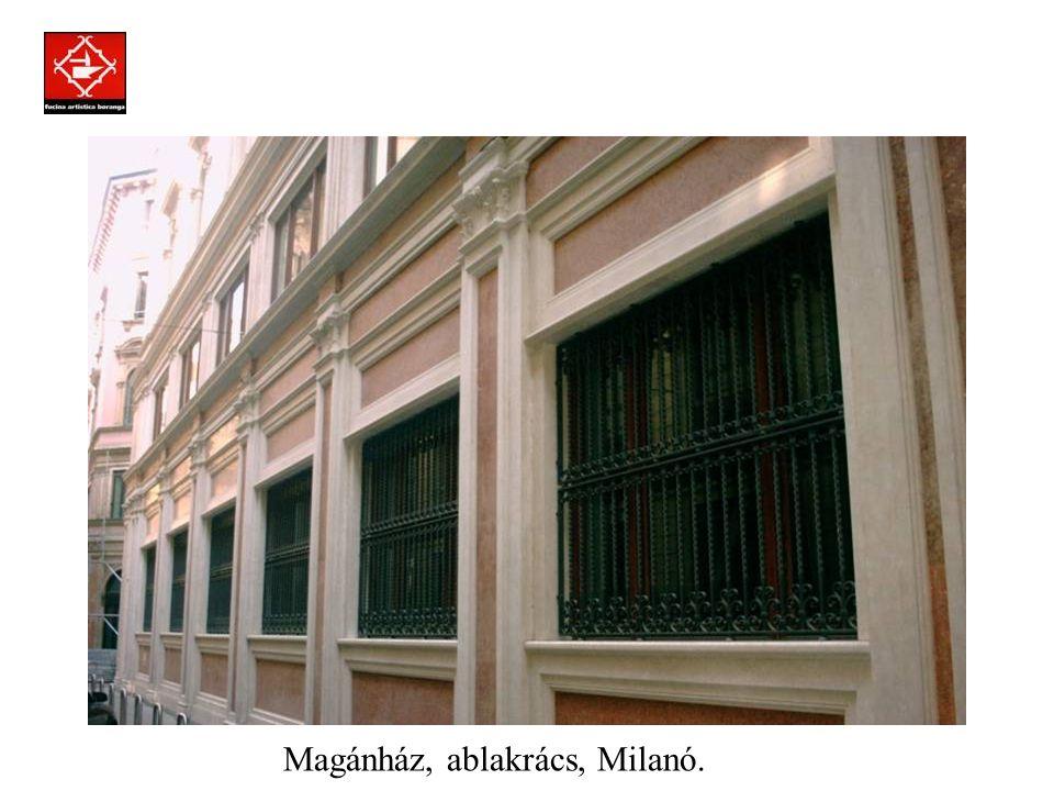 Prodotti assemblati a regola d'arte con la tecnica della chiodatura. Magánház, ablakrács, Milanó.
